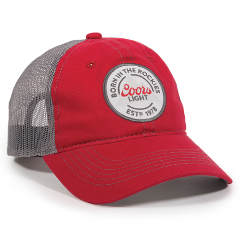 6914ab26e4687 COORS LIGHT RED DARK GREY SNAPBACK HAT