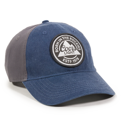COORS LIGHT NAVY/GREY DAD HAT