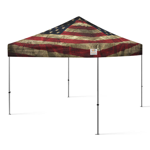 10'x10' American Flag Rugged USA Canopy