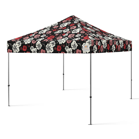 10x10_hibiscus_flower_canopy_black_red_pink_white