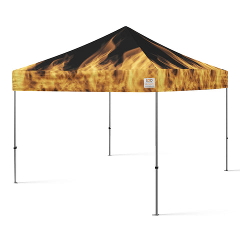 10'x10' Flames Fire Canopy