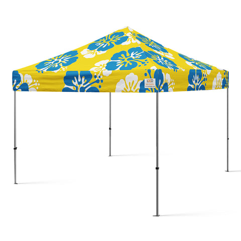 10x10_hibiscus_flower_canopy_gold_blue_white