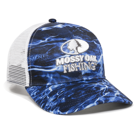 MOSSY OAK® ELEMENTS AGUA MARLIN/WHITE SNAPBACK HAT