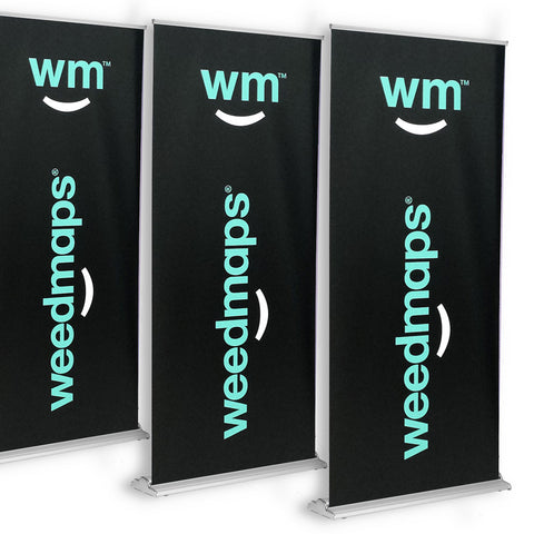 "Premium Retractable Banner Stand 36""x92"""
