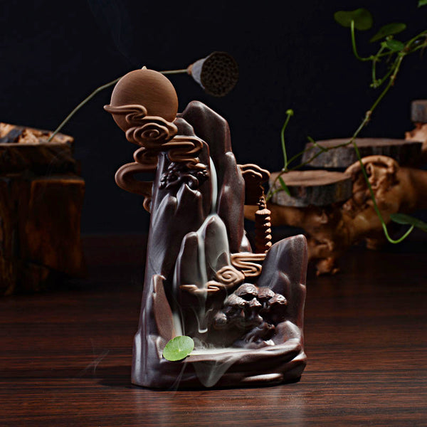 Bright Full Moon Incense Cone Burner Backflow Tower