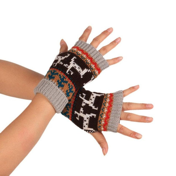 Winter Knitted Fingerless Soft Gloves