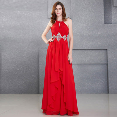 Red Wedding Party Evening Dress or a Summer Event Formal Evening/Ball Gown