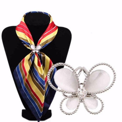 Tricyclic Butterfly Scarf Buckle, Scarf Brooch, Scarf Holder