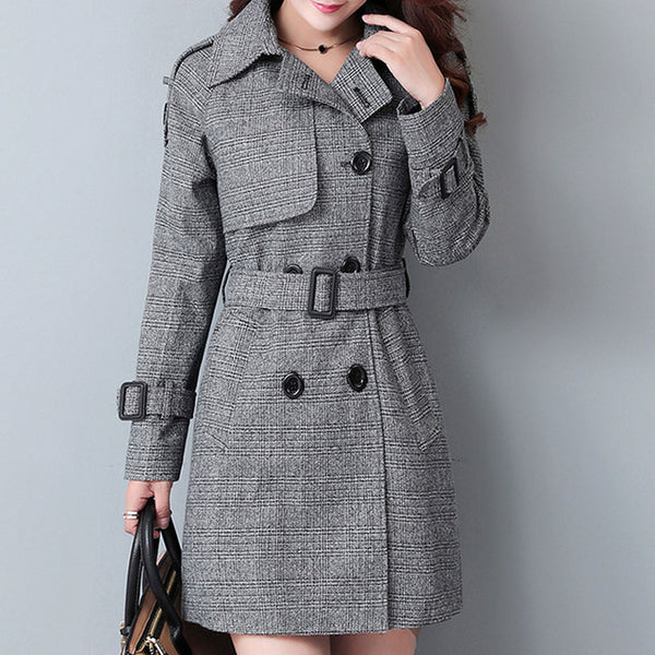 A-Line Slim Trench Coat