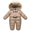 Winter Jacket 90% duck down warm infant baby snowsuit/snow wear