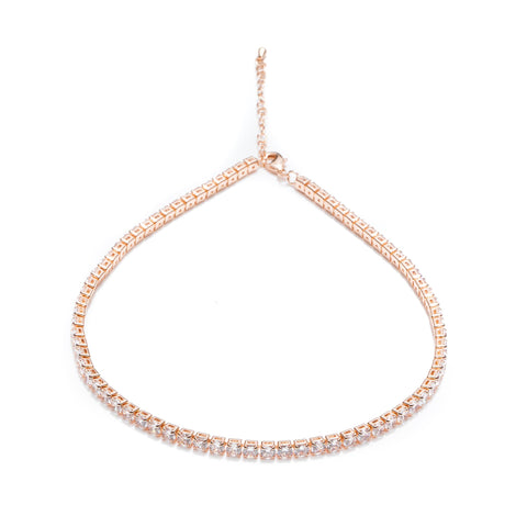 Chocker Tennis Auriu-Rose
