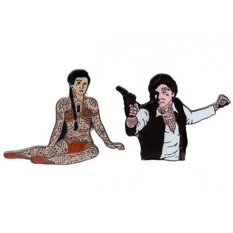 HAN SOLO & PRINCESS LEIA (2 PACK)