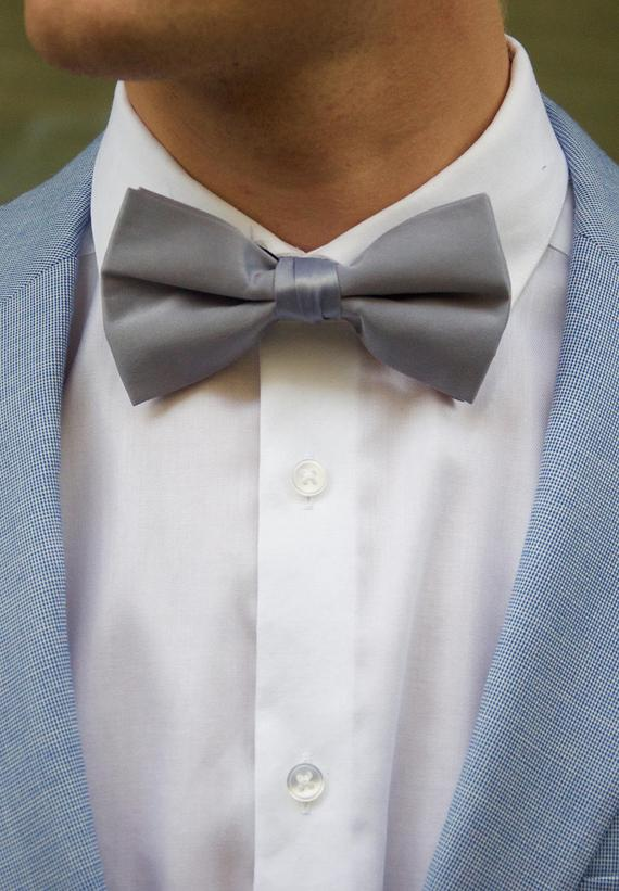 Bow Ties. BT 0001. Groom's Party. Satin Bow Ties. Assorted Colors. - GiGiBelleBoutiqueNewYork