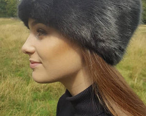Luxury Faux Fur Hat. Charcoal Gray. - GiGiBelleBoutiqueNewYork