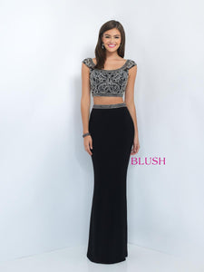 Blush 11000 Size 8 Prom Dress Black
