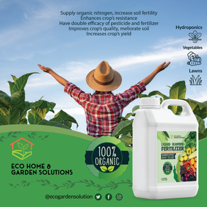 Eco Home & Garden Indoor Plant Fertilizer | Organic Indoor Plant Food Made from Liquid Kelp Seaweed Extract | Great Vegetable Liquid Fertilizer & House Plant Fertilizer Indoor