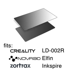 138x78mm - Wham Bam Resin Double Wham System Kit for Creality LD-002R, Nova3D Elfin, Zortrax Inkspire