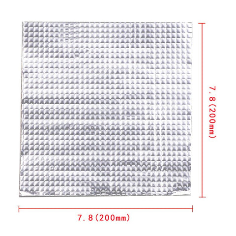 200x200mm Heat Bed Insulation Cotton with Foil Self-adhesive Sticker (10mm Thick)