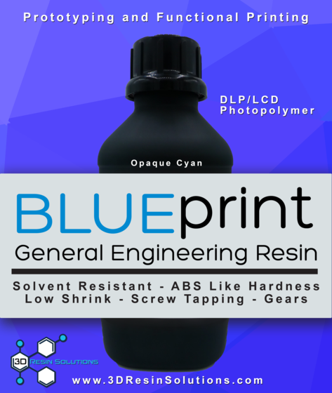 BLUEprint ENG 3D Printing Resin - For DLP/LCD 3D Printers