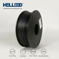 Carbon Fiber - 1.75mm Hello 3D PLA Filament - 1 kg