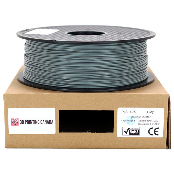 Grey - 1.75mm Standard PLA Filament - 1 kg