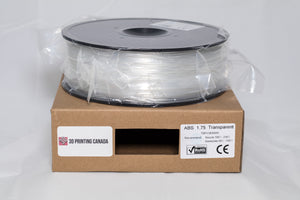 Transparent - 1.75mm ABS Filament - 1 kg