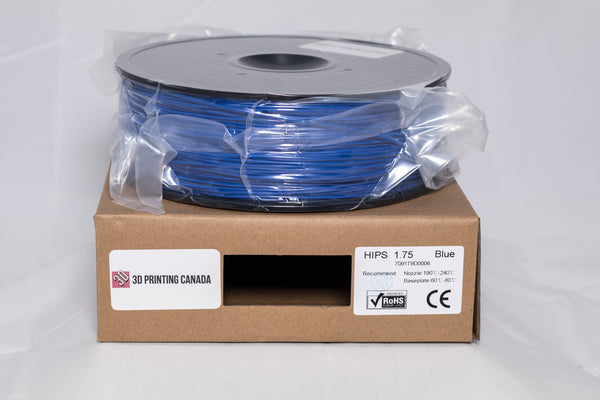 Blue - 1.75mm HIPS Filament - 1 kg