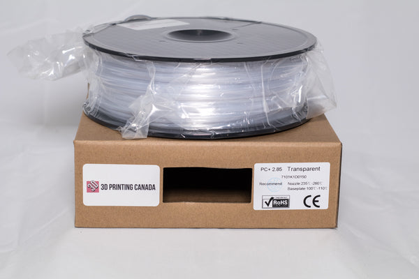 Transparent / Natural - 2.85mm PC+ Filament - 1 kg