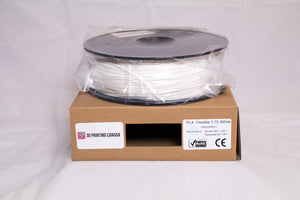 White - 1.75mm Flexible Soft PLA Filament - 1 kg