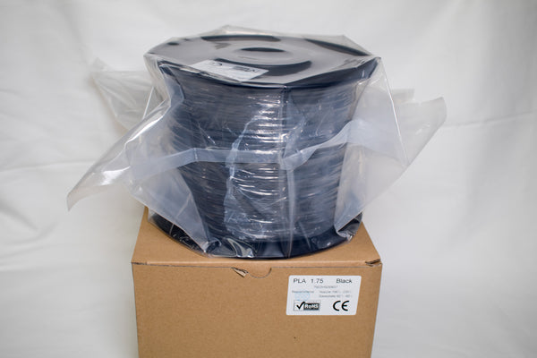 Black - 1.75mm Standard PLA Filament - 2 kg