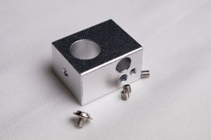 Aluminum Heater Block For M10 Threaded Nozzle 25 x 20 x 15mm