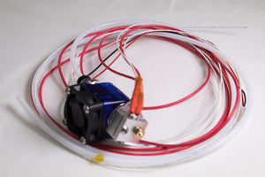 V6 Hotend With Wires, Fan Duct And Cooling Fan 12V, Assembled A (Bowden Type,Heatbreak With PTFE)