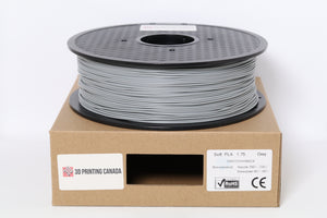 Grey- 1.75mm Flexible Soft PLA Filament - 1 kg