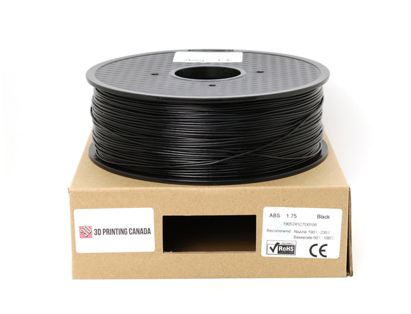 Black - 1.75mm ABS Filament - 1 kg