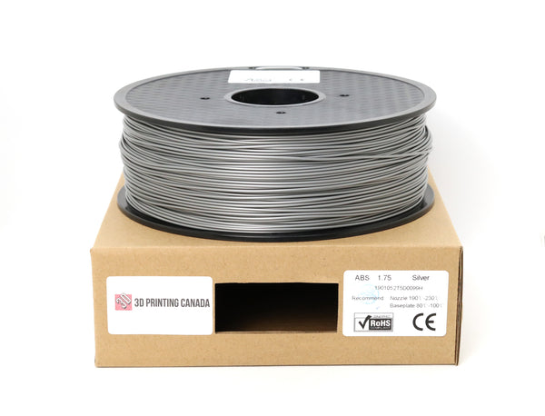 Silver - 1.75mm ABS Filament - 1 kg