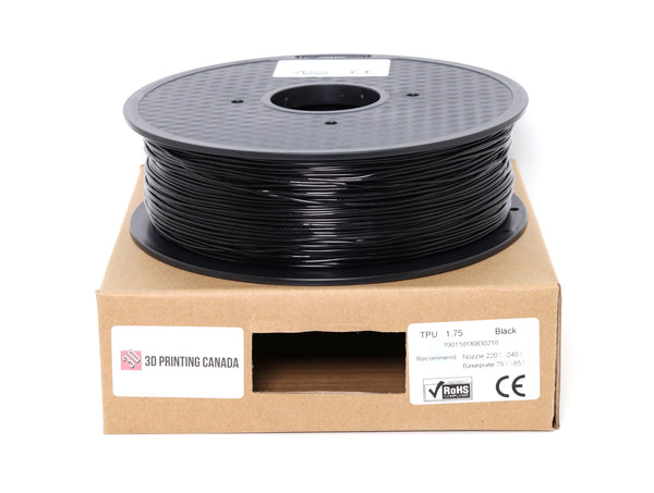 Black - 1.75mm TPU Filament - 1 kg