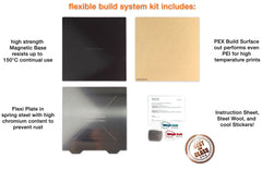 377x370mm - Wham Bam Pre-Installed Flexible Build System for Creality Ender 5 Plus