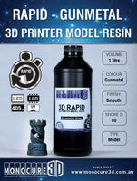 Gunmetal Grey - Monocure 3D Rapid Resin - 5L