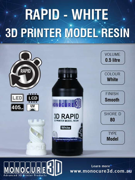 White - Monocure 3D Rapid Resin - 0.5L (0.6KG)