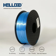 Sky Blue - 1.75mm Hello 3D Silk PLA Filament - 1 kg