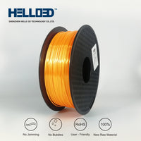 Orange - 1.75mm Hello 3D Silk PLA Filament - 1 kg