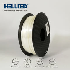 White - 1.75mm Hello 3D Silk PLA Filament - 1 kg