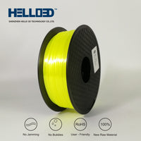 Yellow - 1.75mm Hello 3D Silk PLA Filament - 1 kg