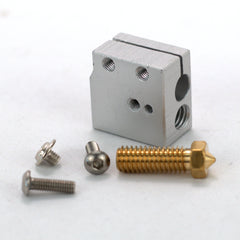 Aluminum Volcano Heater Block With Brass Nozzle 1.75mm-0.4mm