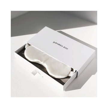 Sovemaske i Mulberry silke - Powder White