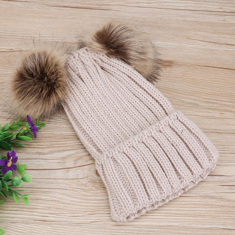 0b0562dc9e2 Matching Double Pom Pom Knit Beanies – rattle   spoon