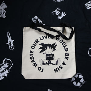 Waste our lives Tote Bag
