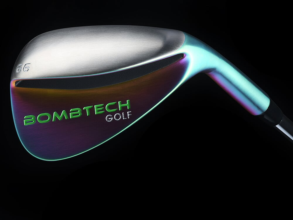 New! BombTech Golf 66 Degree Volcano Torched Lob Wedge
