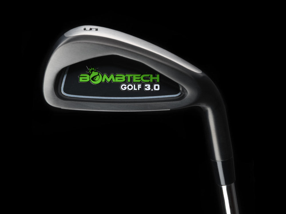 BombTech 3.0  all black golf iron set