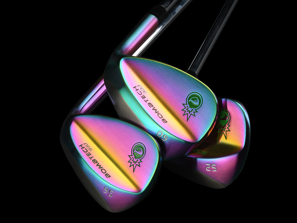Rainbow Torched BombTech 52, 56 and 60 Wedge Set